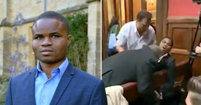 Ebenezer Azamati has won compensation after being removed from the Oxford Union debating society.