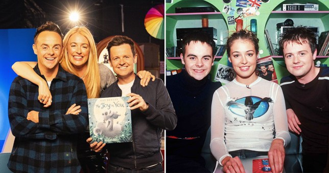 Cat Deeley and Ant and Dec on SM:TV Live set