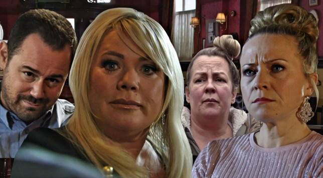 Mick, Sharon, Linda and Karen in EastEnders