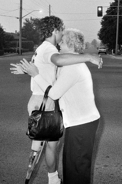 Terry Fox and Mum Betty Fox