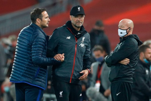 Chelsea manager Frank Lampard says he was 'embarrassed' after his bust-up with Liverpool manager Jurgen Klopp