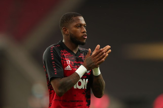 Fred looks on ahead of Manchester United's Europa League clash with Sevilla