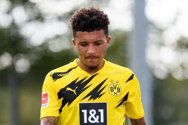 Jadon Sancho appears destined to remain at Borussia Dortmund this season