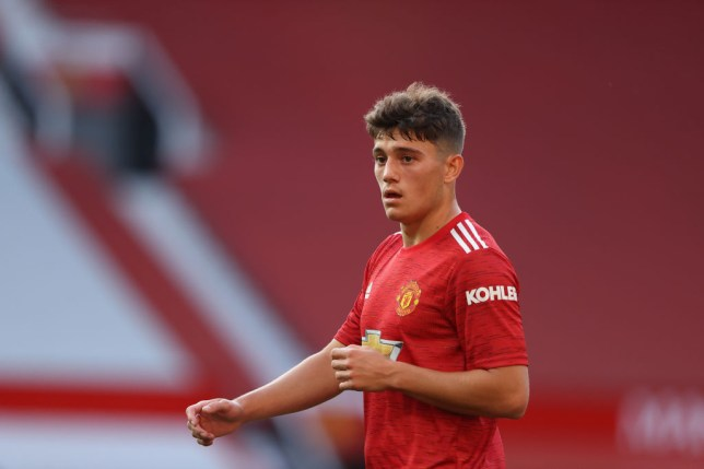 Daniel James of Manchester United during the Premier League match between Manchester United and Crystal Palace at Old Trafford on September 19, 2020 in Manchester, United Kingdom.
