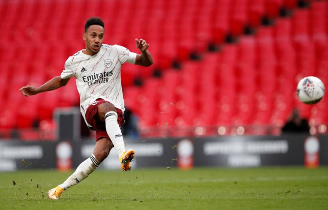 Aubameyang is yet to have officially signed a new deal