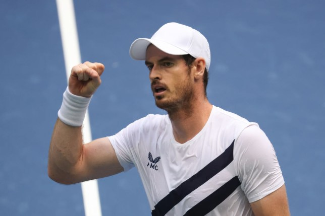 Andy Murray of Great Britain celebrates winning during his Men's Singles first round match against Yoshihito Nishioka of Japan on Day Two of the 2020 US Open at the USTA Billie Jean King National Tennis Center on September 1, 2020 in the Queens borough of New York City.