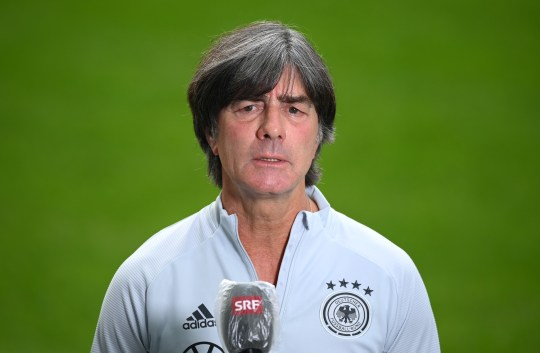 Low speaks to the media ahead of Germany's Nations League clash with Switzerland