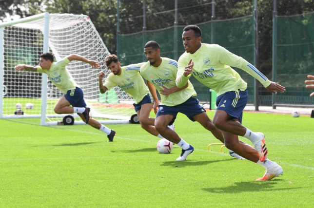 Gabriel Magalhaes in Arsenal Training Session