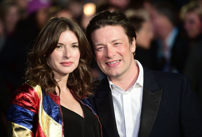 Jamie Oliver and wife Jools Oliver