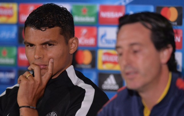 Thiago Silva had a difficult relationship with former PSG boss Unai Emery