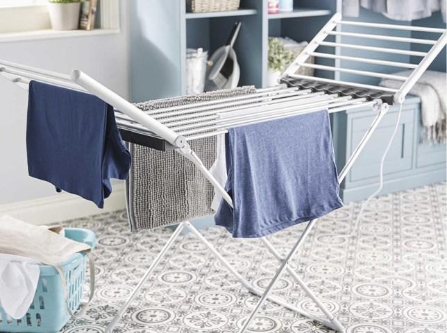 Heated Aldi clothes horse