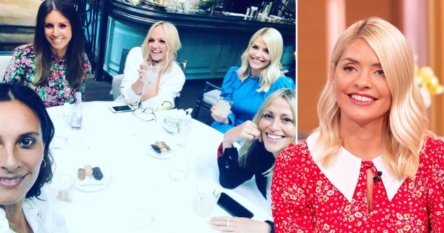 Holly Willoughby with Emma Bunton and Nicole Appleton