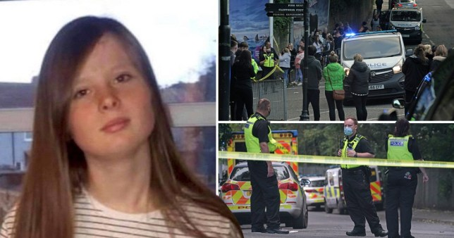 Seesha Dack, 15, who went missing from Fish Quay in North Shields, near Newcastle, (left) and Northumbria Police looking for the missing teenager. Authorities have found a body they believe to be hers.