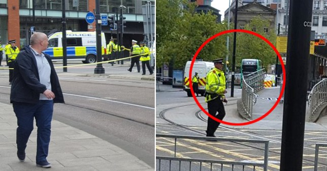 Police evacuate Manchester Piccadilly station after a suspicious item is found on a bus on September 5, 2020