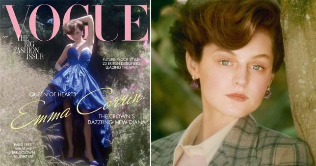 Emma Corrin in Vogue