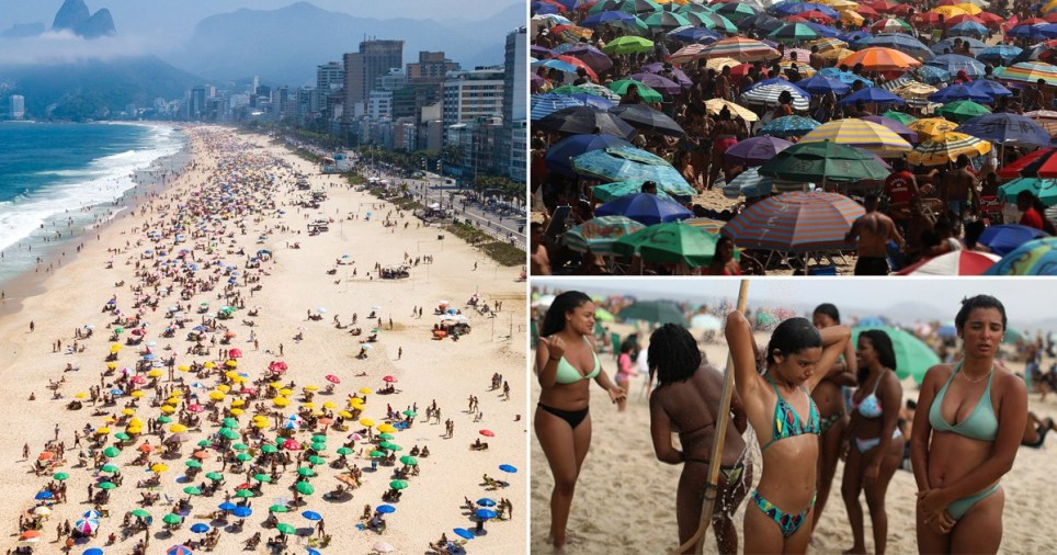 Thousands pack Ipanema beach, Rio de Janeiro, Brazil, on September 6, 2020 despite the South American country's daily coronavirus death toll of 820 people and 4.1 million confirmed cases
