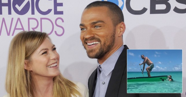 Ellen Pompeo gets revenge on Grey's Anatomy co-star Jesse Williams four years after he pranked her