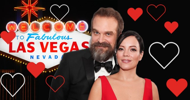 David Harbour and Lily Allen get married