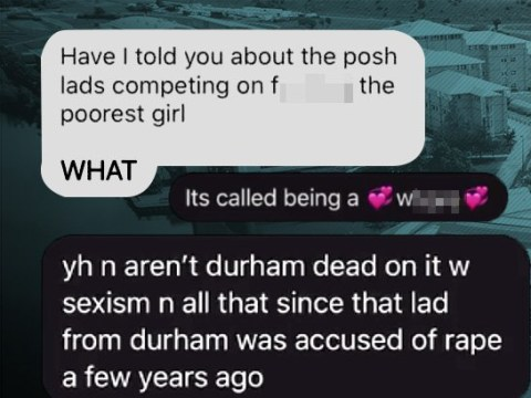 Freshers planned competition to have sex with the poorest female they could find