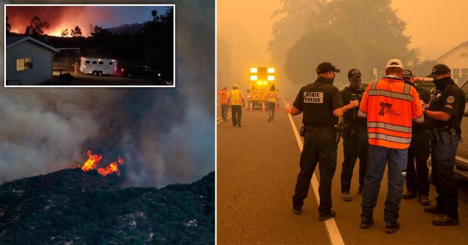Incendies de forêt sur la côte ouest des États-Unis