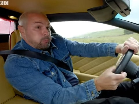Terrifying moment Top Gear's Paddy McGuinness loses control of Lamborghini and crashes