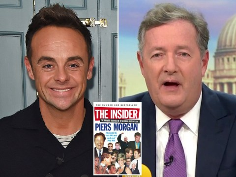 Piers Morgan 'outraged' to find out Ant McPartlin no longer wants copy of his book and it's thrown out on street