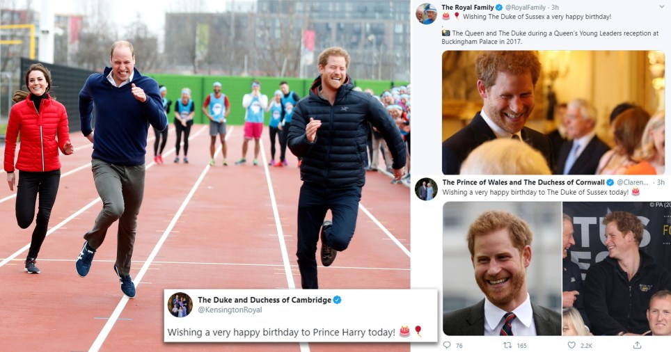 William and Kate share throwback picture to celebrate Harry's 36th birthday