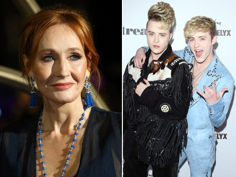 Jedward come for JK Rowling as they joke author's new book is 'perfect to burn' on a fire