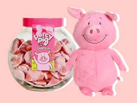 M&S Percy Pig Christmas range includes giant teddy and 1kg tub of the sweets