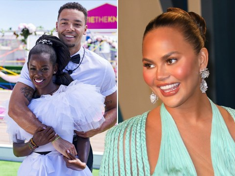 Love Island's Justine and Caleb are big fans of Chrissy Teigen and the feeling is completely mutual