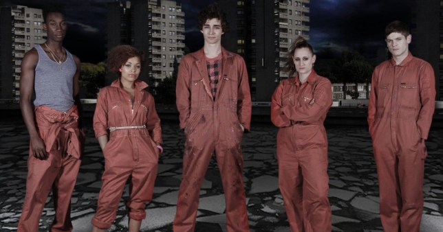 Misfits cast on Channel 4