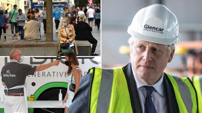 Composite image Boris Johnson