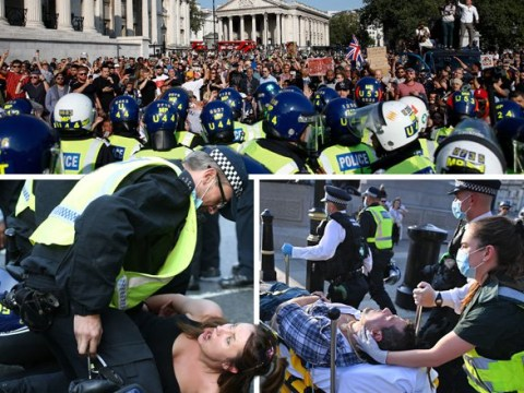 Hundreds of coronavirus conspiracy theorists clash with police in London