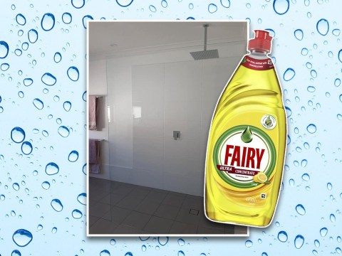 Mum makes shower screen sparkle with simple Fairy Liquid hack