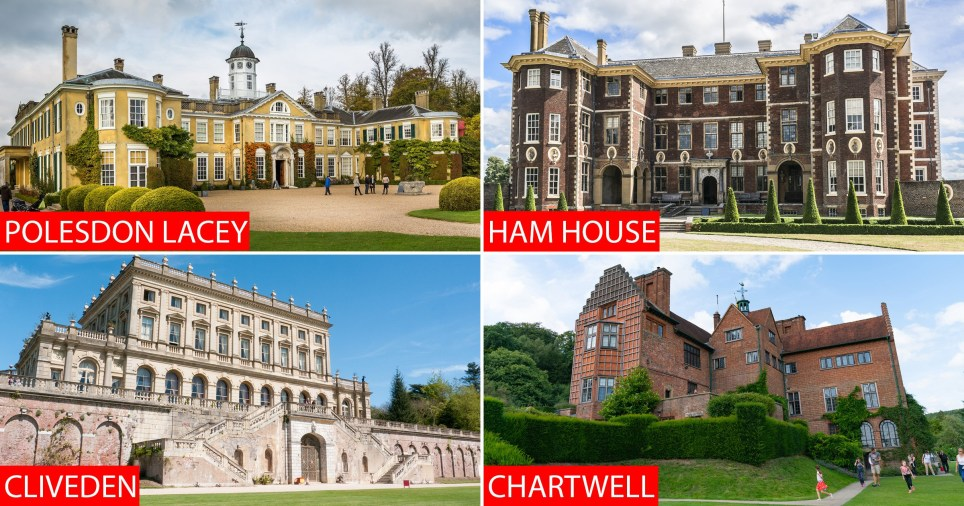 Properties identified as having links to slavery and colonialism (Pictures: The National Trust)