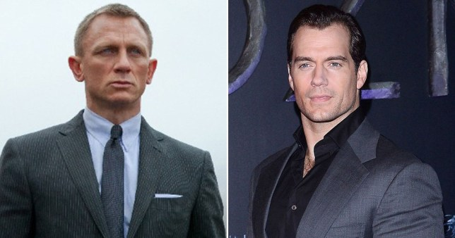 Daniel Craig as James Bond pictured separately alongside Henry Cavill