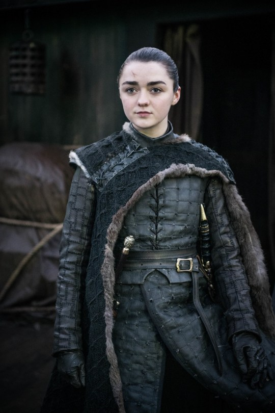 Maisie Williams as Arya in Game of Thrones
