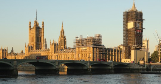Mandatory Credit: Photo by Xinhua/REX (10762182b) Photo taken on Sept. 1, 2020 shows a general view of Houses of Parliament as the House of Commons returns from summer recess, in London, Britain. Britain London House of Commons Return - 01 Sep 2020