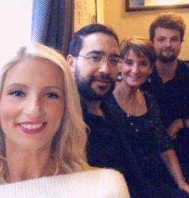 Stephanie Uyar, Alper Uyar, Carole et Alex Haworth (fils)