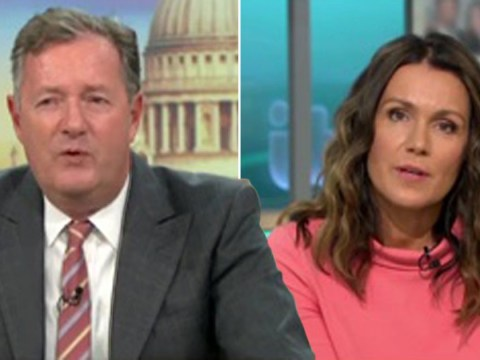 Piers Morgan kicks off at Susanna Reid as she apologises for his bad language