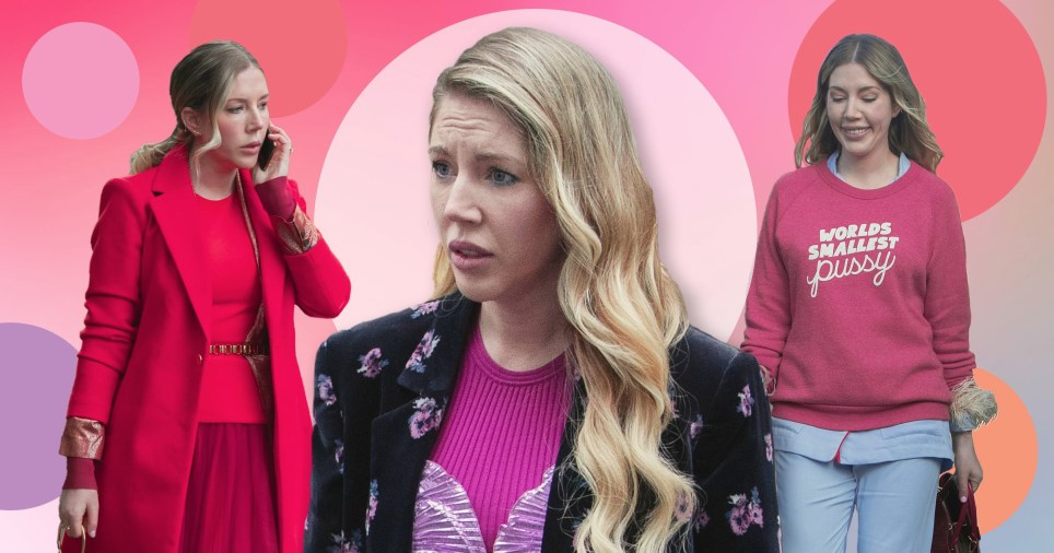 EXCL: Katherine Ryan's fashion choices in The Duchess (Picture: Netflix)