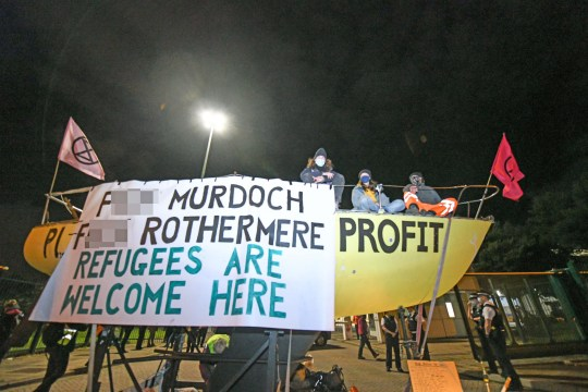 Extinction Rebellion blockade a Murdoch-owned printing company in  Knowsley
