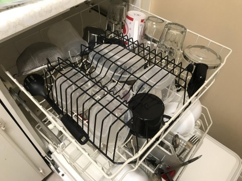 Try this easy dishwasher hack to stop water collecting in bowls and pots
