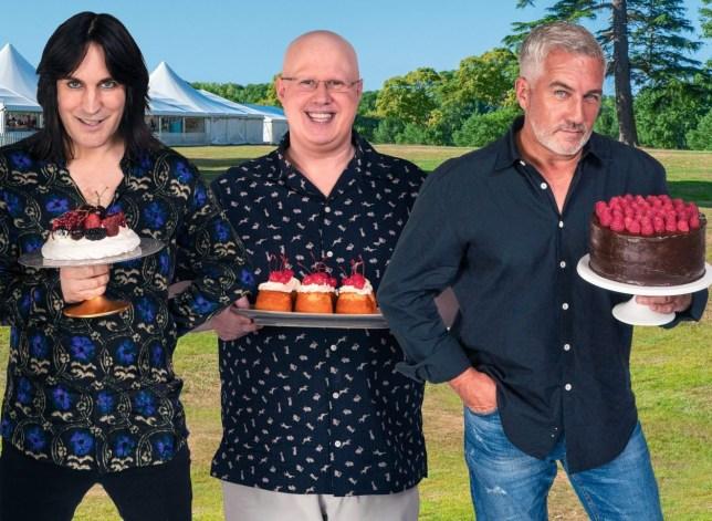 Great British Bake Off 2020: Noel Fielding, Matt Lucas and Paul Hollywood