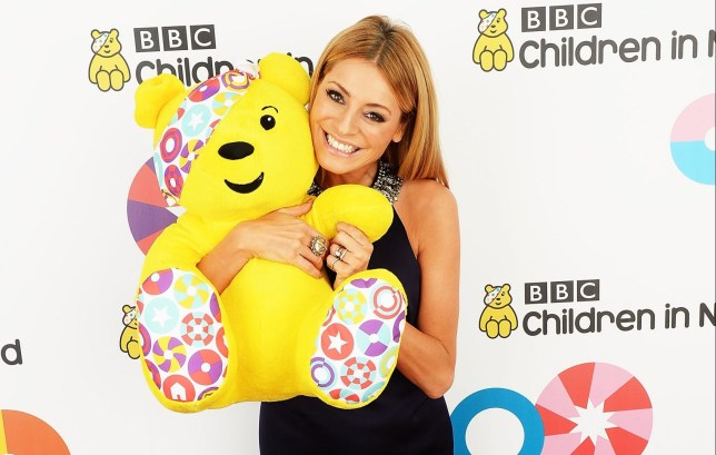 BOREHAMWOOD, ENGLAND - NOVEMBER 14: Tess Daly backstage at the Star Bar during BBC Children in Need at Elstree Studios on November 14, 2014 in Borehamwood, England. (Photo by Dave J Hogan/Getty Images)