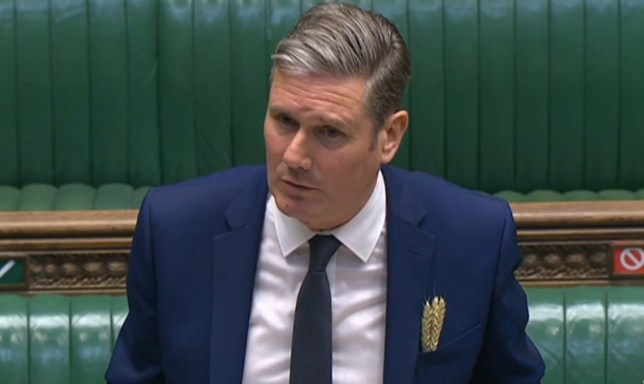 Labour leader Keir Starmer is self-isolating after a family member showed Covid-19 symptoms.