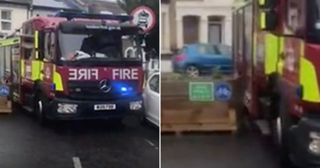 Fire engine trapped by bollards to create Covid-friendly roads