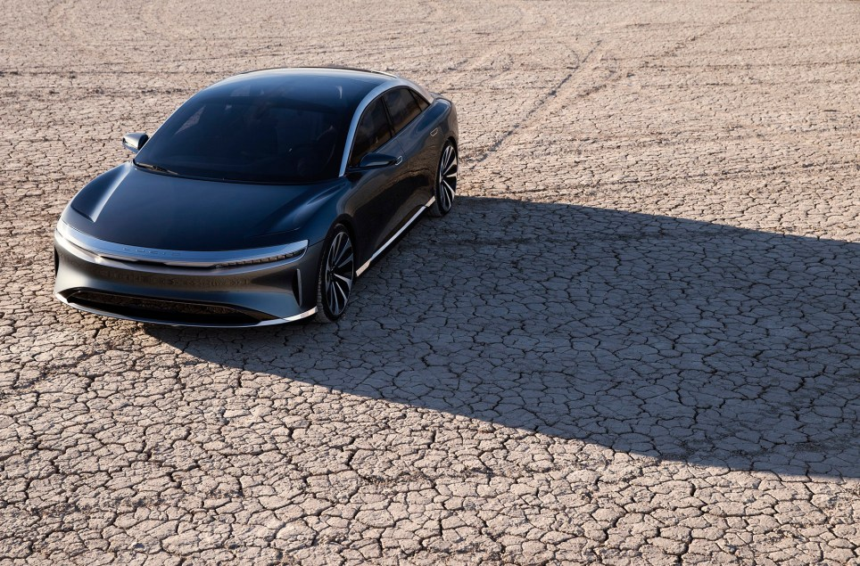 Lucid Air electric car unveiled as a rival to Elon Musk's Tesla Model S