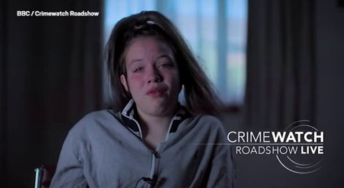 16yo's teary Crimewatch appeal after man tried to pull her into car in Northampton picture: crimewatch METROGRAB