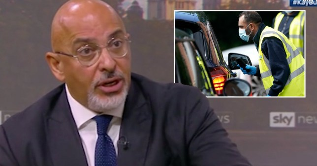 Business Minister Nadhim Zahawi couldn't say when target of 10 million daily coronavirus tests would be met.